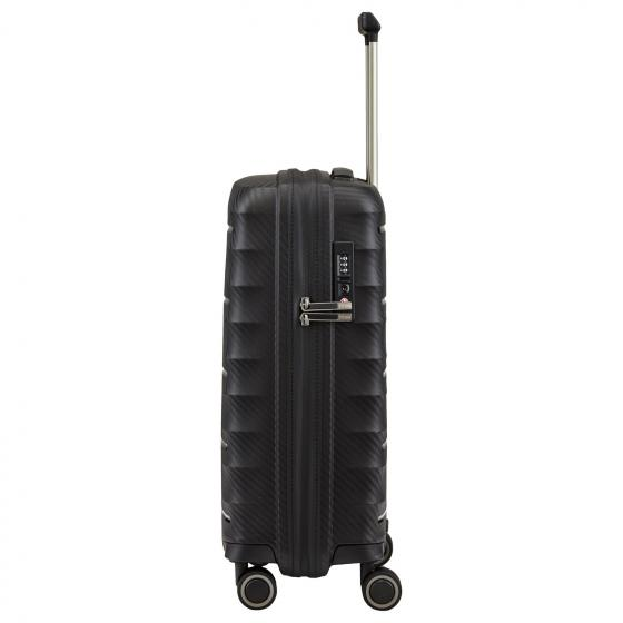 Highlight 4-Rollen-Kabinentrolley S 55 cm black